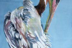 Just Visiting - Watercolor 30x22