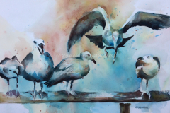 Comin'n In - Watercolor 22x30