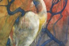 Hidden in Bramble - Watercolor 30x22