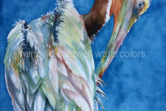 Huntington Beach Visitor - Watercolor, 22 x 30