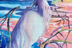 Rainbow Egret - Watercolor 30x22