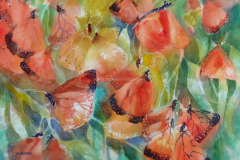 Monarch Madness - Watercolor 22x30