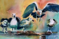 Move Over - Watercolor 22x30