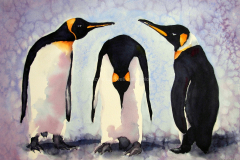 Penguin Pizazz - Watercolor 11x22