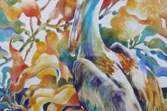 Pelican and Kelp 2 - Watercolor 30x22