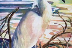 Standing in Bramble - Watercolor 30x22
