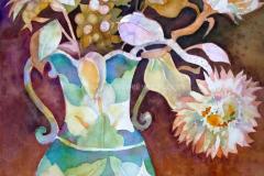 Calla Lily Vase - Watercolor 22x15