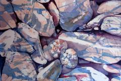 Rocks - Watercolor 15x22