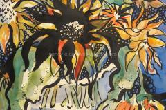 Sunflowers - Mixed Media 22x15