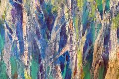 Trees - Mixed Media  22x22