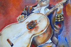 The Troubadour - Watercolor 22x15