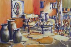 Becci's Bench, Scottsdale, AZ - Watercolor 15x22