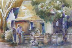 Irish Cottage,  Watercolor 15x22