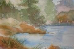 Lakeside, Lake Tahoe - Watercolor 15x11