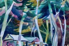 SpoonerRanch, Montana de Oro, San Luis Obispo - Watercolor 22x15