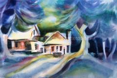 Spooner Ranch, Montana de Oro, San Luis Obispo - Watercolor, 22 x 15