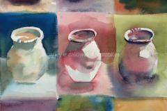 Colorful Jars - Watercolor 22x15