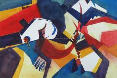 Dancing Set Her Free - Watercolor  22x30 (plein air)