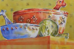 Fiesta Bowls - Watercolor 15x22