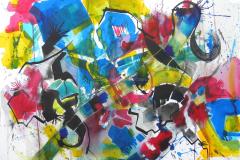 The Tube - Mixed Media 22x30