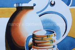 Three Vases  - Watercolor 11 x 15