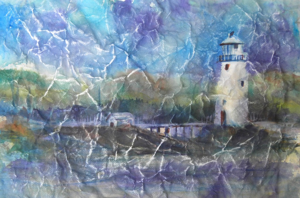 Crinkled Lighthouse  4100-07-HLF 1500px