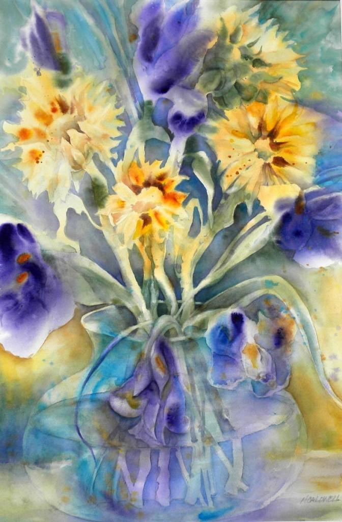 Irises and Sunflowers  1100-05-HLF