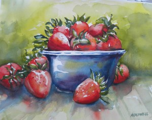 Strawberries and Blue Bowl 2 8000-08-Qtr 1500px