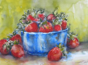 Strawberries in Blue Bowl 1 8000-07-QTR 1500px