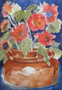 Terra Cotta Pot with Flowers 8000-09-QTR 1500px